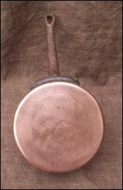 Vintage French Tinned Copper Pan 1950