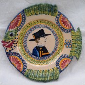 Henriot Fish Shaped Little Breton Plate Corbeille Quimper 1930