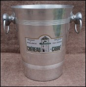 Chereau Carre Aluminum White Wine Ice Bucket Cooler Muscadet
