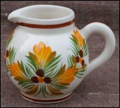 HB Quimper Flowered Creamer Milk Pitcher