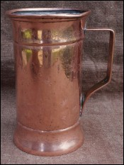 Oktoberfest Beer Mass Hammered Dovetailed Copper 19th C