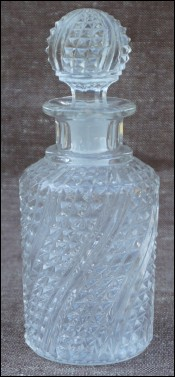 Cut Twisted Crystal Perfume Bottle 1910
