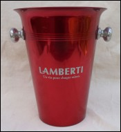 Red Lacquered Aluminum Wine Bucket Lambertini