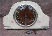 Art Deco Chime Shelf Mantle Clock URGOS 8 Days Germany