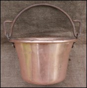 Copper Kettle Apple Butter Wrought Iron Handle Late 19th C
