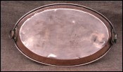 Au Gratin Roasting Copper Oval Pan Tin Lined 1900
