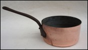 Hammered Copper Tinned Sauce Pan 2mm Thick