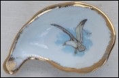 Limoges Gold Porcelain Oyster Shooter Seagull