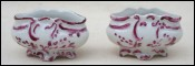 Paris Porcelain Pair Open Salt Cellars 1920