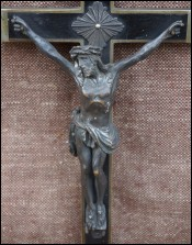 Large Pectoral Cross Christ Symeon Prophecy 1894