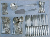 Louis XV Dinner Table Flatware Set 58 pcs Silverplate