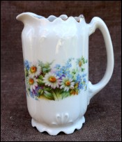 Art Nouveau German Porcelain Flowered Milkpot 1900