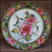 Imperial Hummingbird Theresa Politowicz Porcelain Plate
