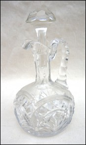 Cut Crystal Cordial Cruet Stopper Late 20th C