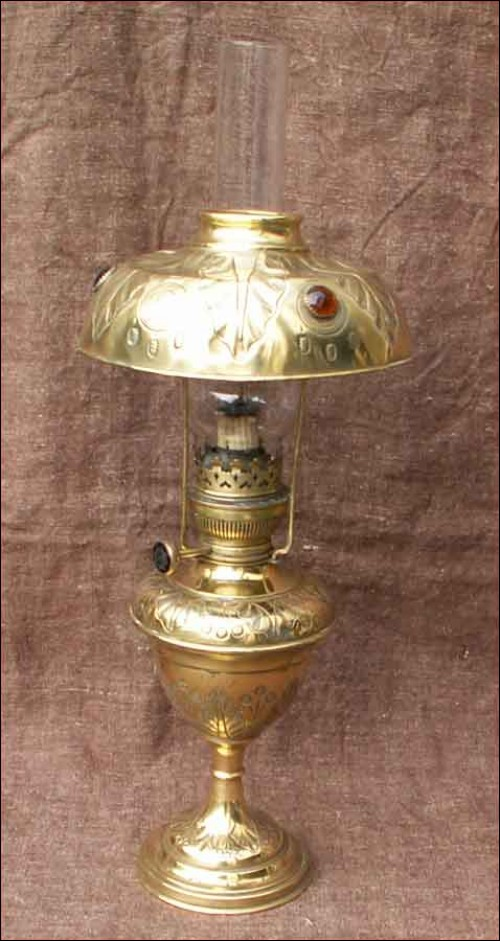 Large brass french oil lamp shade 1880 aloadofball Image collections