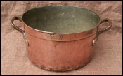Large French Country Pan Caldron Copper 19th C