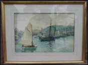 Massa Carrara Harbor A G Wallis Sealing Boats 19th C