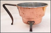 Tin Lined Sauce Boat BBQ Fireplace Wrought Iron 1900