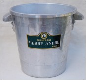 Pierre ANDRE Aluminum Champagne Ice Bucket REIMS France 1940