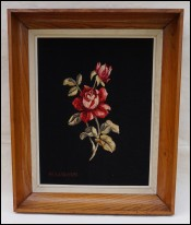 Roses Framed Woven Aubusson Tapestry Albert Couturier