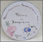 Advertising Platter Tray Medallion Dompierre La Rochelle