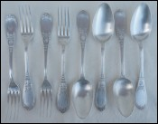 Silverplate 4 Dinner Forks Spoons Place Settings Alma Model