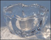 DAUM FRANCE Ash Tray Pipe Holder Crystal Art Glass 1970