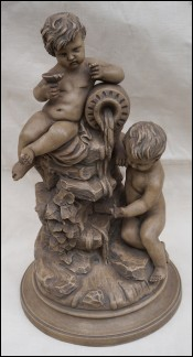 Cherubs The Source Terracotta Statue Rossini 1920