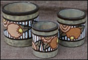 Belgium Pottery ART DECO Smokers Set Bergen La Montoise