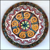 HB QUIMPER Rene QUILLIVIC Celtic Decor Plate