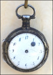 Coach Oignon Pocket Watch Verge Fusee Cock Mouvement 17th C