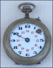 For SPARE PART Pocket Watch Nickel Plated Brass Enamel Dial