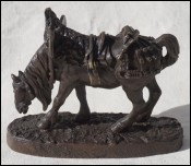 Jules Moigniez Bronze Sculpture Work Horse Hitched Clydesale 19th C