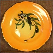 Decorative Plate Aubagne Vallauris Bee