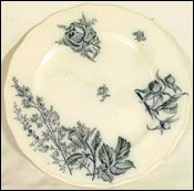 Brown-Westhead Blue Flore Chine Plate