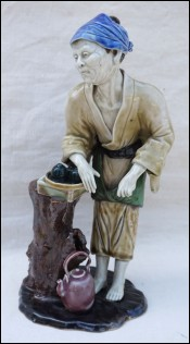 Vietnam Tea Street Dealer Statue Porcelain Hue Minh Long
