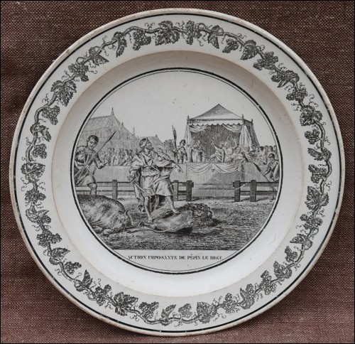 Empire Pepin The Short Cabinet Wall Grisaille Plate Creil Paris