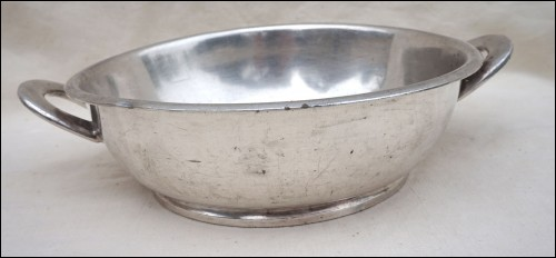 US NAVY Art Deco Silver Soldered Dish Reed & Barton Numbered 3610 8 WW2