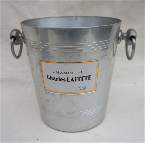 Aluminum Champagne Ice Bucket Charles Lafitte 1950