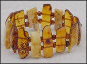 Vintage Natural Baltic Amber Bracelet Butterscotch Cognac Color
