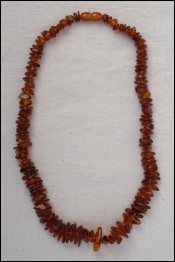 Natural Baltic Amber Honey Cognac Necklace 27gr