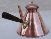Copper Tined Copper Chocolate Coffee Pot 1qt France 1900