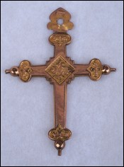 Fix Savard Rose & Yellow Gold Filled Cross Pendant Paris