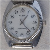 Men Albin Mechanical Antimagnetic Wristwatch Stainless Steel