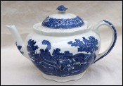 Adams Staffordshire English Scenic Blue Tea Pot England