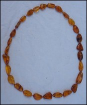 Natural Baltic Amber Cognac Butterscotch Necklace Beads 41gr