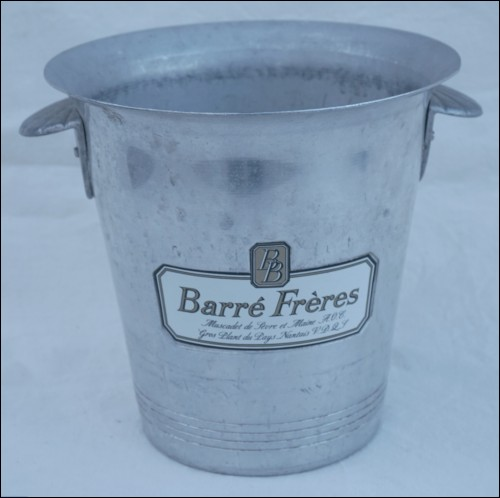 Champagne White Wine Ice Bucket Cooler Barre 1970