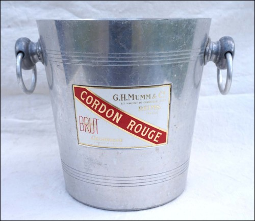 Champagne Ice Bucket Cooler G H Mumm Cordon Rouge