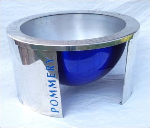 POMMERY French Champagne Magnum Ice Bucket Cooler Chromium