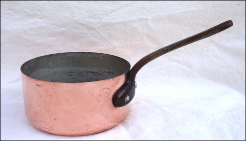 Chef Cookware Tin Lined Hammered Copper Sauce Pan Faucogney
